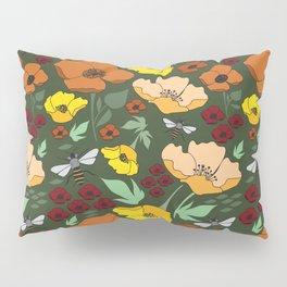 Flower Petals and Bees Pillow Sham