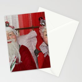 Santa And Mrs. Claus Stationery Cards