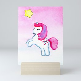 WISH UPON A STAR / MOON DANCER THE UNICORN / MY LITTLE PONY Mini Art Print