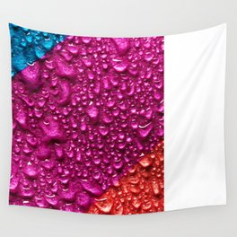 Abstract Colorful Wet Paper 01 Wall Tapestry