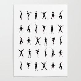 Audrey dance - Pattern Poster