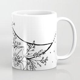 White Flower Moon; Stardust; Crescent Moon; Dream Catcher Coffee Mug