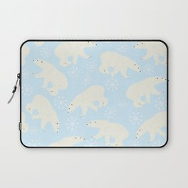 Polar Bear Snow Flake Pattern Laptop Sleeve