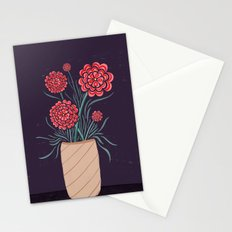 Red Carnations Stationery Cards