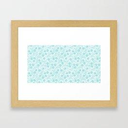 small floral pattern Framed Art Print