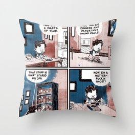 Laugh Menu 77 Throw Pillow
