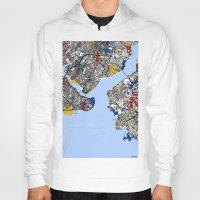 mondrian Hoodies featuring Istanbul mondrian by Mondrian Maps