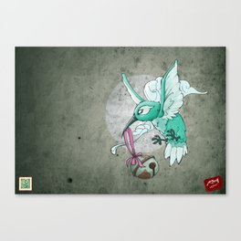 Coli-raptor Canvas Print