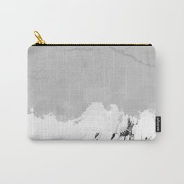 White marble spill on concrete Carry-All Pouch