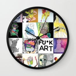 FU*K art United Wall Clock