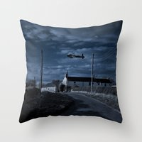 return Throw Pillows featuring The Return by 'Stuffy'