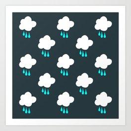 Rain Cloud Pattern Art Print