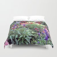 sweden Duvet Covers featuring Sweden Flowers by Cynthia del Rio