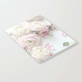 SPRING FLOWERS WHITE & PINK Notebook