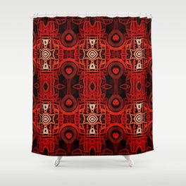 Tribal Batik Shower Curtain