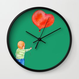 With All my Heart Wall Clock