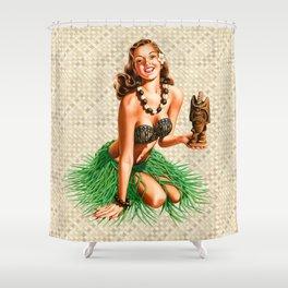 Tiki Girl Shower Curtain