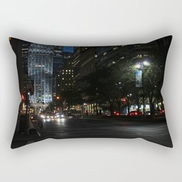 Riding to New York Rectangular Pillow
