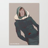 the legend of korra Canvas Prints featuring Korra by Alex Alarcon