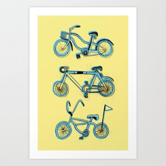 Gonna ride my bike 'til I get home Art Print