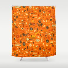 Fantastic Mr Fox plot pattern Shower Curtain
