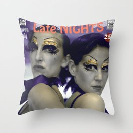 Late Nights . Queen Pulp Series Throw Pillow