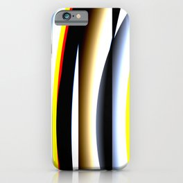 Abstract techno glitch iPhone Case