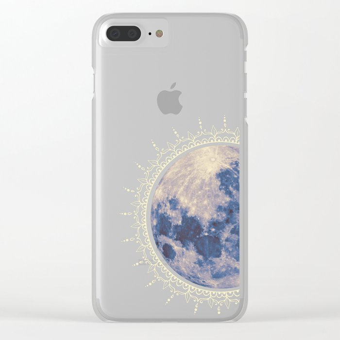 moon #2 Clear iPhone Case