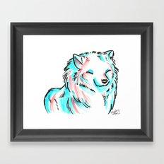 Brush Breeds-Samoyed Framed Art Print