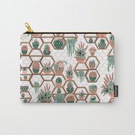 Christmas Succulent Garden. Echeveria, Cacti, plants, aloe vera, pachyveria, haworthia, holiday gift Carry-All Pouch