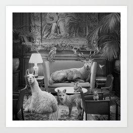 Living Room Fauna Art Print