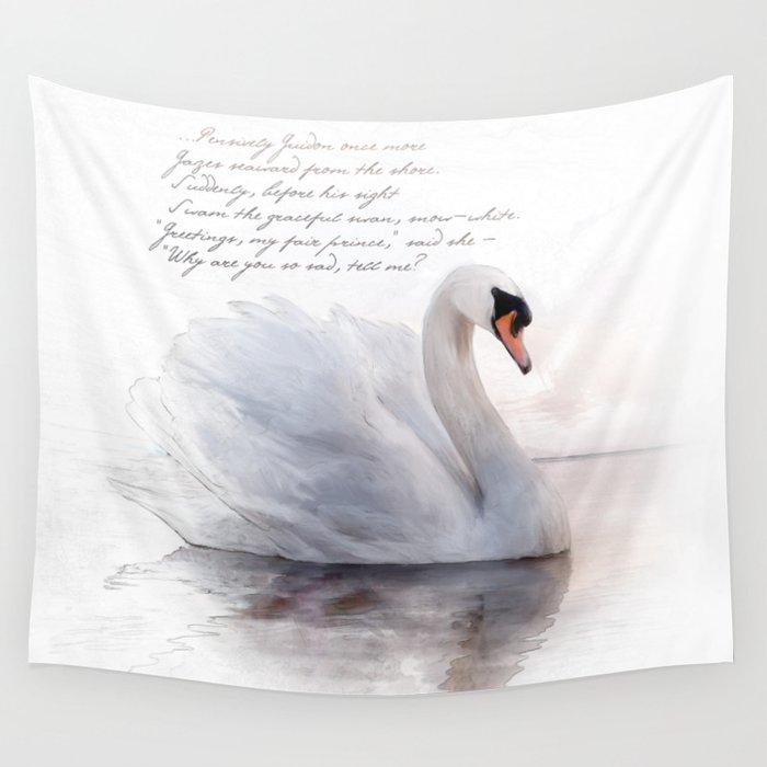 The Swan Princess Wall Tapestry