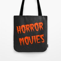 movies Tote Bags featuring Horror Movies by NoHo