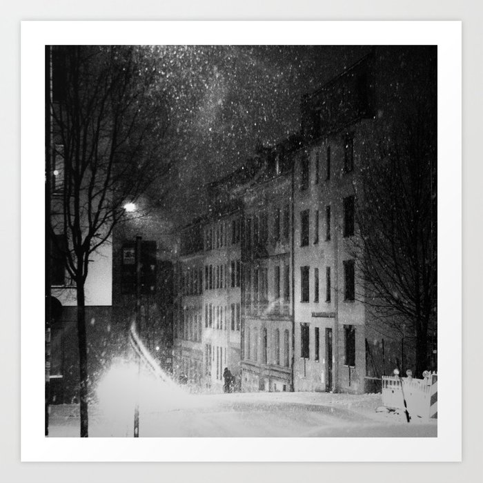 snowstorm street Art Print