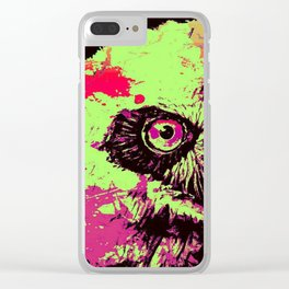 Rainbow Spectacled Owl Clear iPhone Case