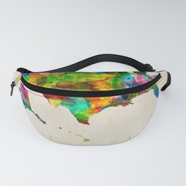 USA Map in Watercolor Fanny Pack