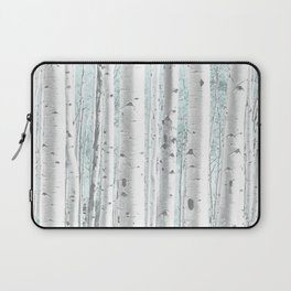 Pale Birch and Blue Laptop Sleeve