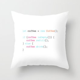 COFFEE Throw Pillow