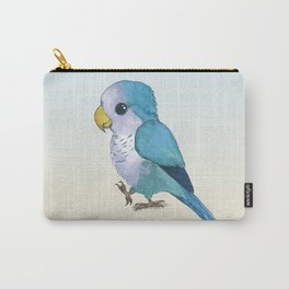 very cute blue quaker parrot Carry-All Pouch