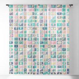 Dollar Pattern 60s Sheer Curtain