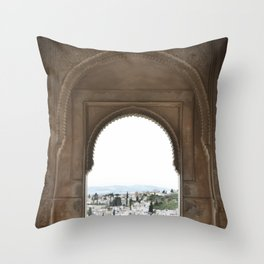 Alhambra Window to Granada Throw Pillow