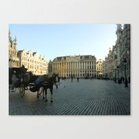 brussels Canvas Prints featuring Brussels by Emily Brady