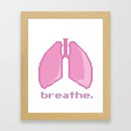 Breathe. Pixelated Lungs Framed Art Print