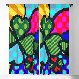 Lucky Cloverleaf Blackout Curtain