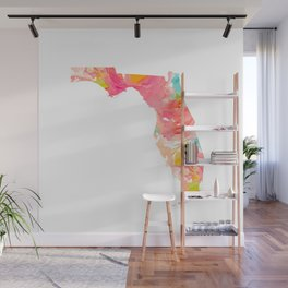 Florida Gold foil map Wall Mural