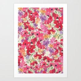 Big Red Poppy Patch Art Print