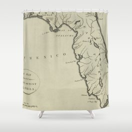 Vintage Map of Florida (1794) Shower Curtain