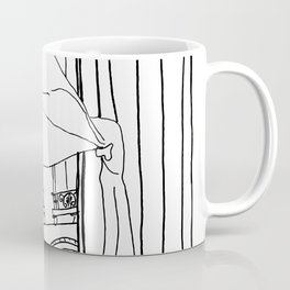 Window View in France  //  ink drawing Coffee Mug