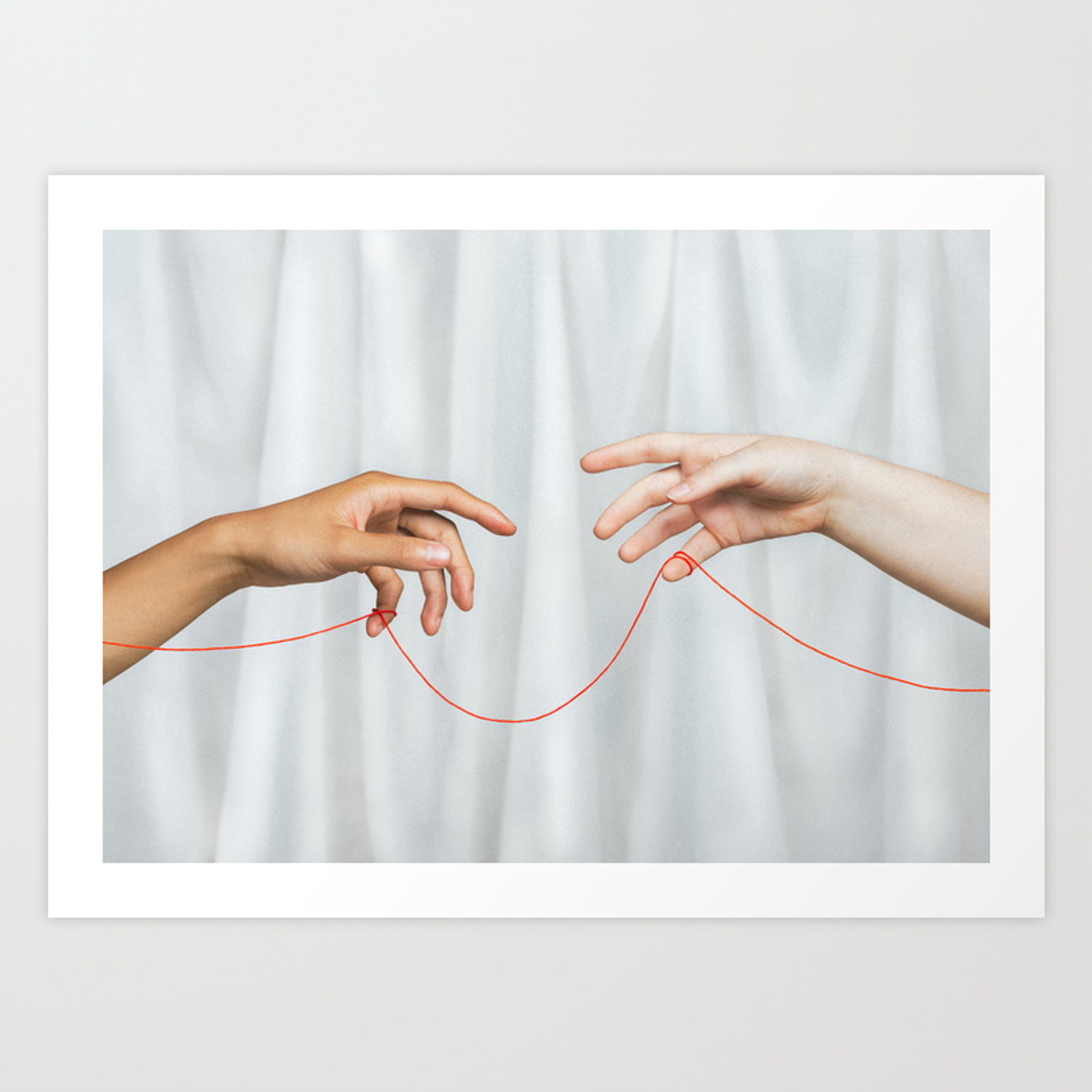 Red String Of Fate Art Print By Pipaluq Society6