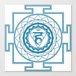 Sri Yantra Throat Chakra Canvas Print